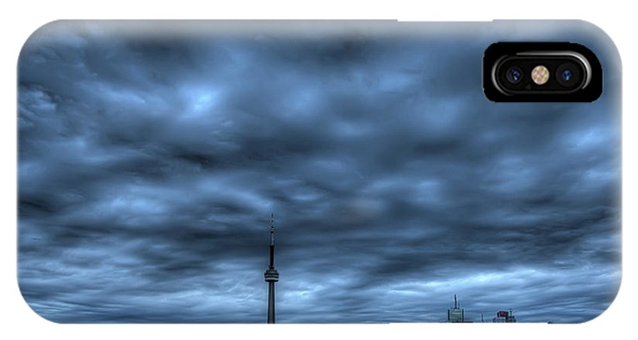 Toronto IPhone X Case featuring the photograph Toronto Blue by Max Witjes