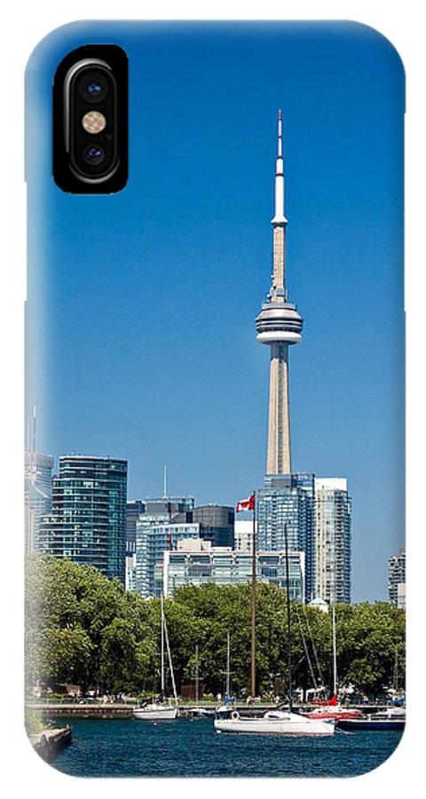 Toronto IPhone X Case featuring the photograph Toronto Harbour by Steve Harrington