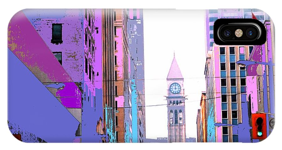 Bay IPhone X Case featuring the photograph Toronto Old City Hall by Ian MacDonald