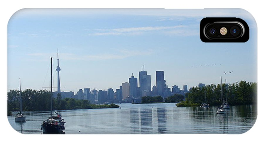 City Skyline IPhone X Case featuring the photograph Toronto Skyline From Tommy Thompson Park by Lingfai Leung