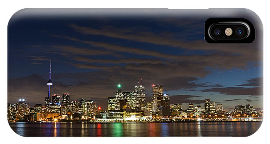 Toronto IPhone X Case featuring the photograph Toronto's Dazzling Skyline by Georgia Mizuleva