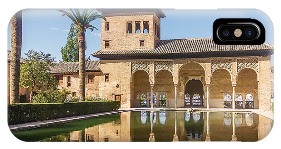 Alhambra IPhone X Case featuring the photograph Torre De Las Damas In The Alhambra Of Granada In Granada. by Dragomir Nikolov