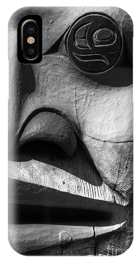 Totem IPhone X Case featuring the photograph Totem 3 by Bob Christopher