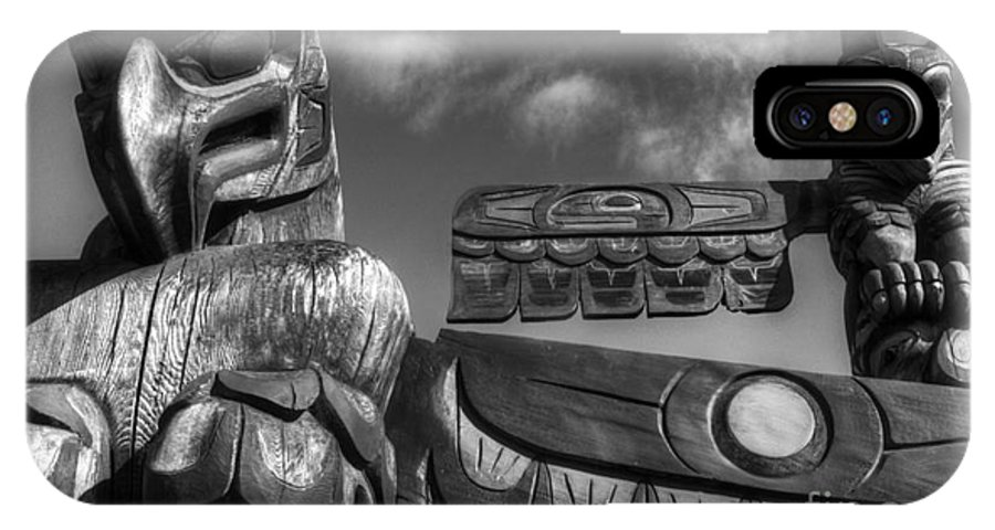 Totem IPhone X Case featuring the photograph Totems 2 by Bob Christopher