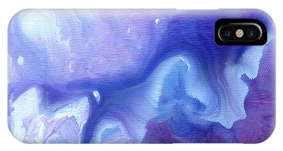Flower IPhone X Case featuring the painting Touch Of Iris by Sherry Shipley