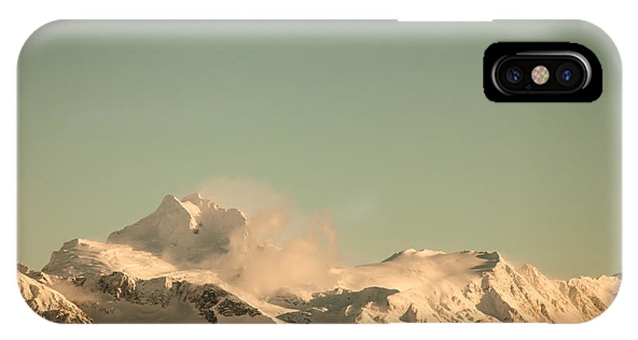 Alaska IPhone X Case featuring the photograph Touch Of Spindrift by Michele Cornelius
