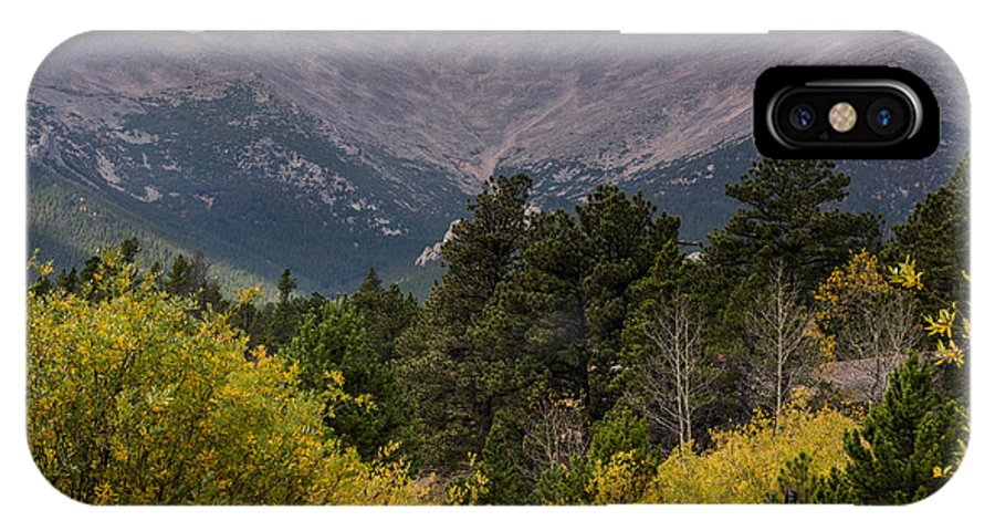 Colorado Mountain IPhone X Case featuring the photograph Touch The Sky by Linda Storm