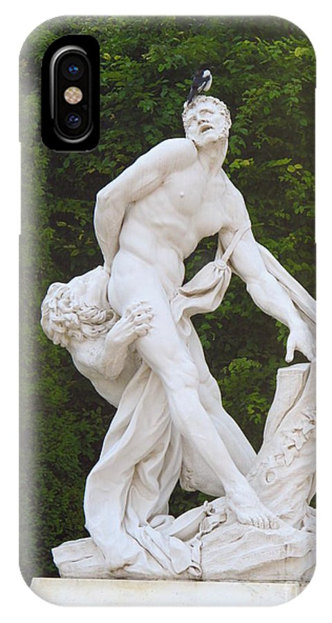 Sculpture IPhone X Case featuring the photograph Tough Day In The Forest by Luis Moya