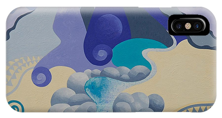 Landscape IPhone X Case featuring the painting Towards Otaki Forks by Gillian Cronin