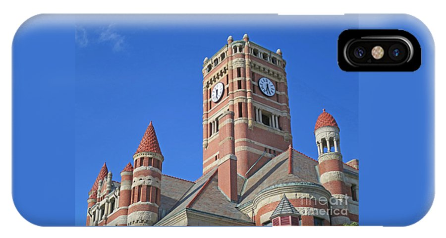 Courthouse IPhone X Case featuring the photograph Tower And Turrets by Ann Horn