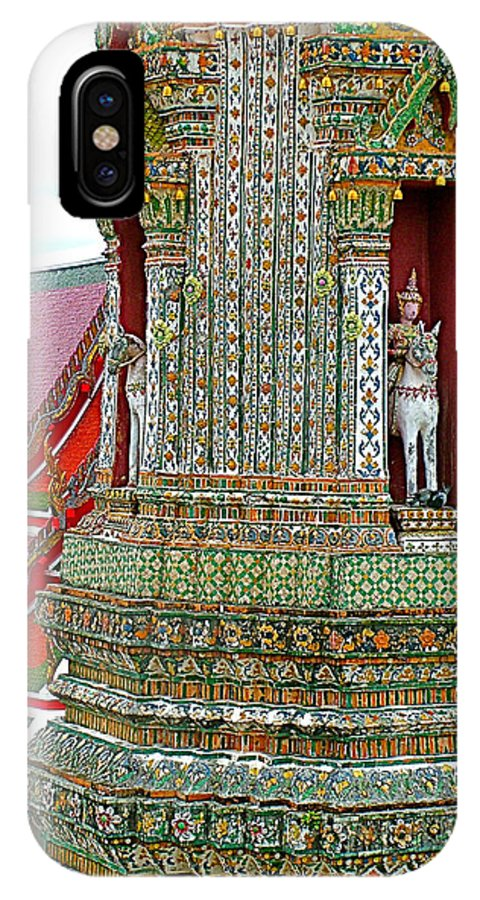Tower At The Temple Of The Dawn IPhone X / XS Case featuring the photograph Tower At Temple Of The Dawn-wat Arun In Bangkok-thailand by Ruth Hager