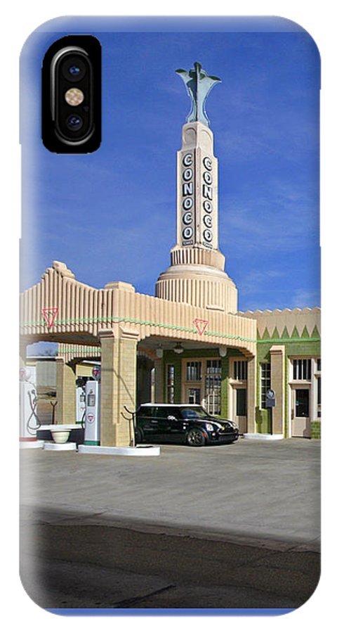 Tower Conoco IPhone X Case featuring the photograph Tower Conoco by Martin Konopacki