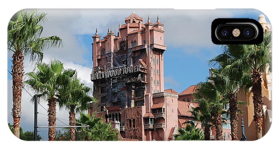 Disney IPhone X Case featuring the photograph Tower Of Terror by Eric Liller
