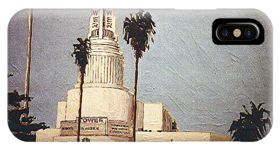Sacramento IPhone X Case featuring the painting Tower Theatre by Paul Guyer