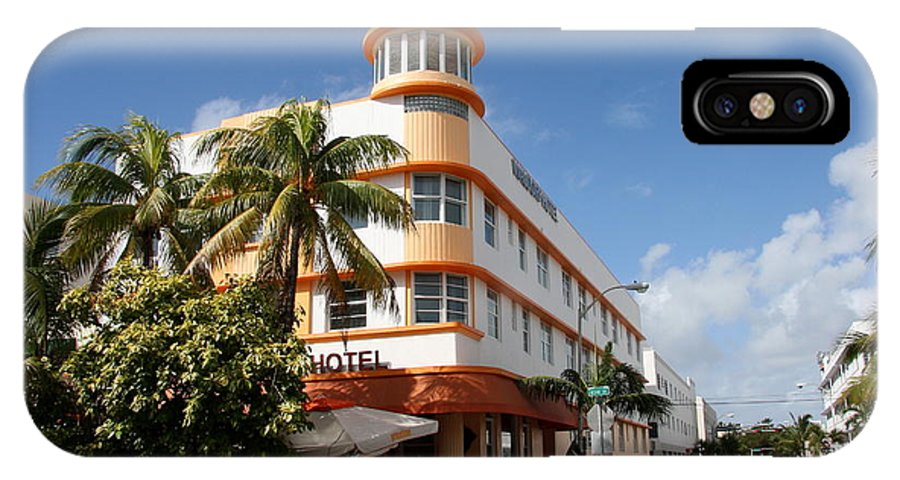 Hotel IPhone X Case featuring the photograph Towers Hotel - Miami by Christiane Schulze Art And Photography