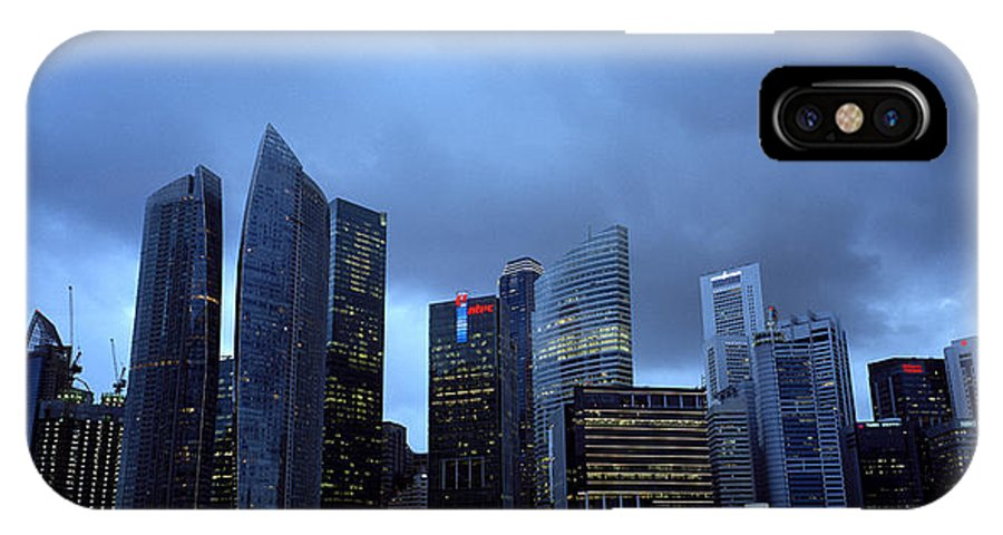 Marina IPhone X Case featuring the photograph Towers Of Singapore by Shaun Higson
