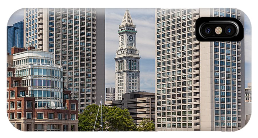 Apartment IPhone X Case featuring the photograph Towers On The Harbor by Susan Cole Kelly