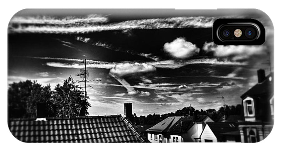 Clouds IPhone X Case featuring the photograph Toxic Art by Annegret Mueller