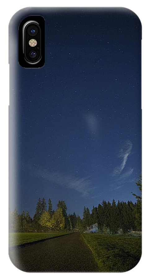 Track IPhone X Case featuring the photograph Track Night by Charlie Duncan
