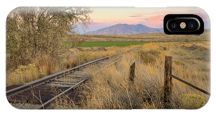 Blackfoot IPhone X Case featuring the photograph Tracks To The Portneufs by Idaho Scenic Images Linda Lantzy
