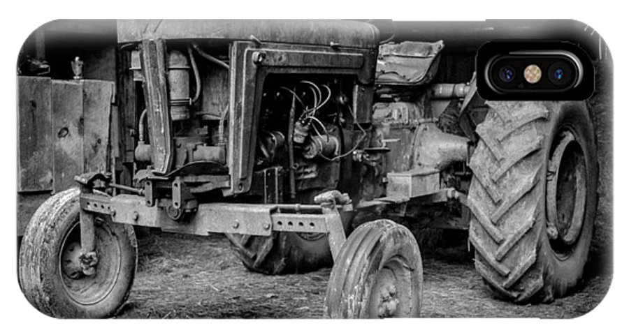 Tractor IPhone X Case featuring the photograph Tractor by Alicia Romano
