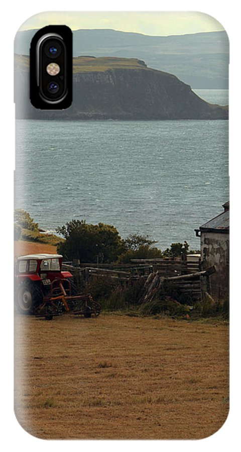 Tractor IPhone X Case featuring the photograph Tractor In Red by Anthony Bean
