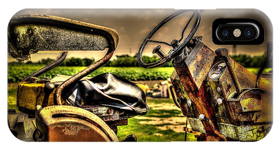 Tractor IPhone X Case featuring the photograph Tractor Seat by David Morefield