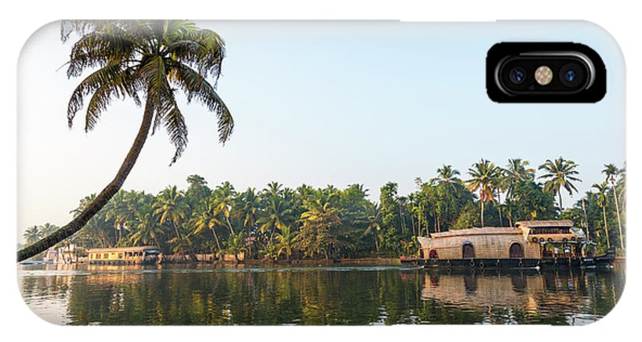 Alappuzha IPhone X Case featuring the photograph Traditional Houseboat, Kerala by Peter Adams