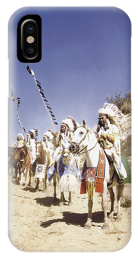 Yakama Tribe IPhone X Case featuring the photograph Traditions by Josef Scaylea