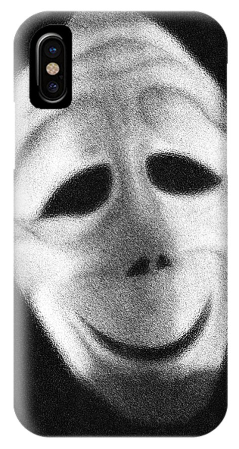 Mask IPhone X Case featuring the photograph Tragic Comic by Joe Arsenian