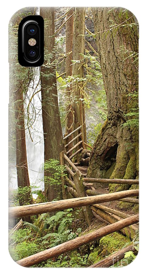 Washington State IPhone X Case featuring the photograph Trail To Waterfall by Carol Groenen