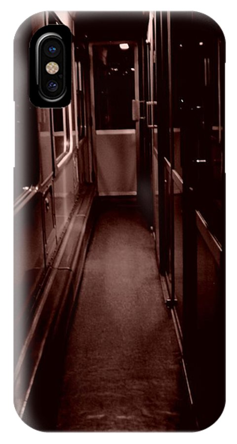 Train IPhone X Case featuring the photograph Train At Night by Nathalie Hope