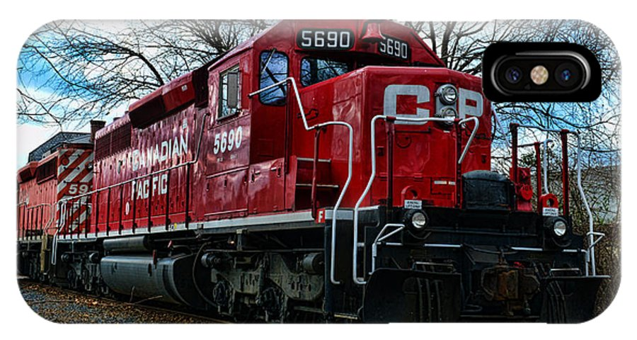 Paul Ward IPhone X Case featuring the photograph Train - Canadian Pacific 5690 by Paul Ward