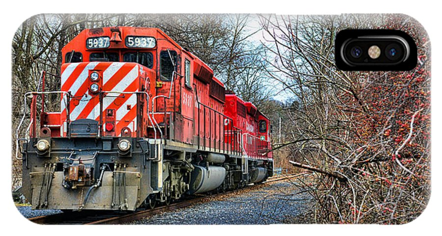 Paul Ward IPhone X Case featuring the photograph Train - Canadian Pacific Engine 5937 by Paul Ward