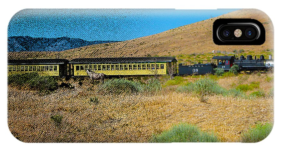 Trains IPhone X Case featuring the photograph Train-sitions by Mayhem Mediums