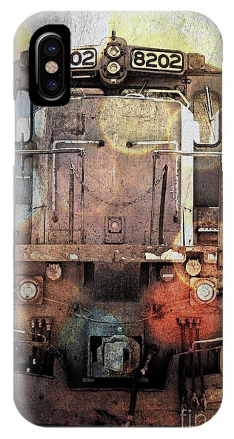 Transportation IPhone X Case featuring the photograph Trains At Rest by Marcia Lee Jones