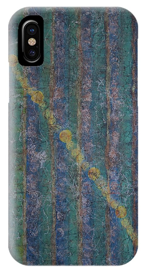 Abstract IPhone X Case featuring the painting Trajectory by Debra Lindley Butler