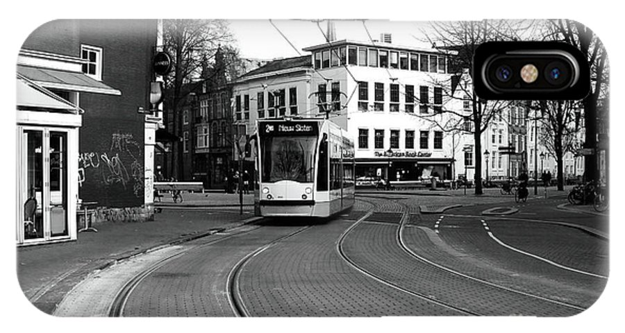 Tram Is Coming IPhone X Case featuring the photograph Tram Is A Coming by John Rizzuto