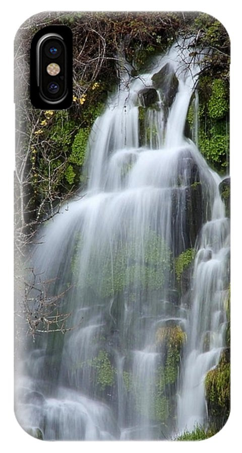 Waterfall IPhone X Case featuring the photograph Tranquil Waterfall by Athena Mckinzie