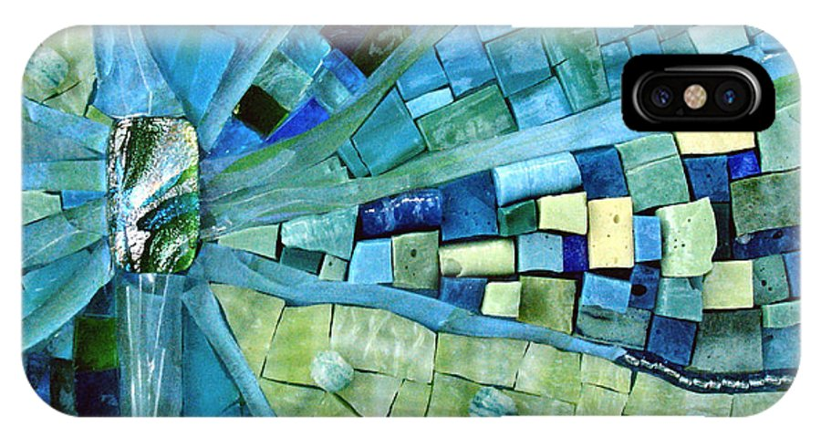 Mosaic IPhone X Case featuring the photograph Tranquility by Valerie Fuqua