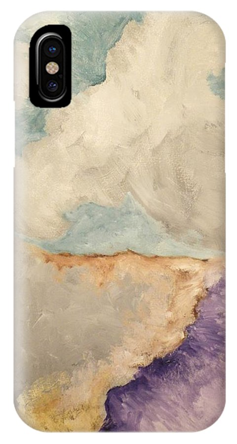 Phone IPhone X / XS Case featuring the painting Transcendence by Zodiak Paredes