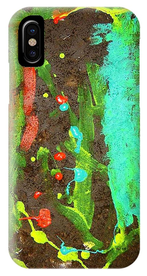 Spiritual Transformation IPhone X Case featuring the mixed media Transformation by Luz Elena Aponte