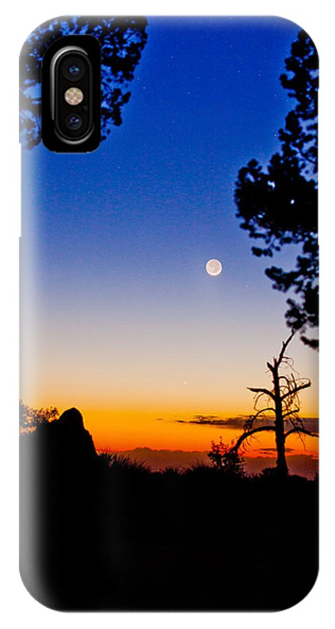 Sunset IPhone X Case featuring the photograph Transition by David Lyle