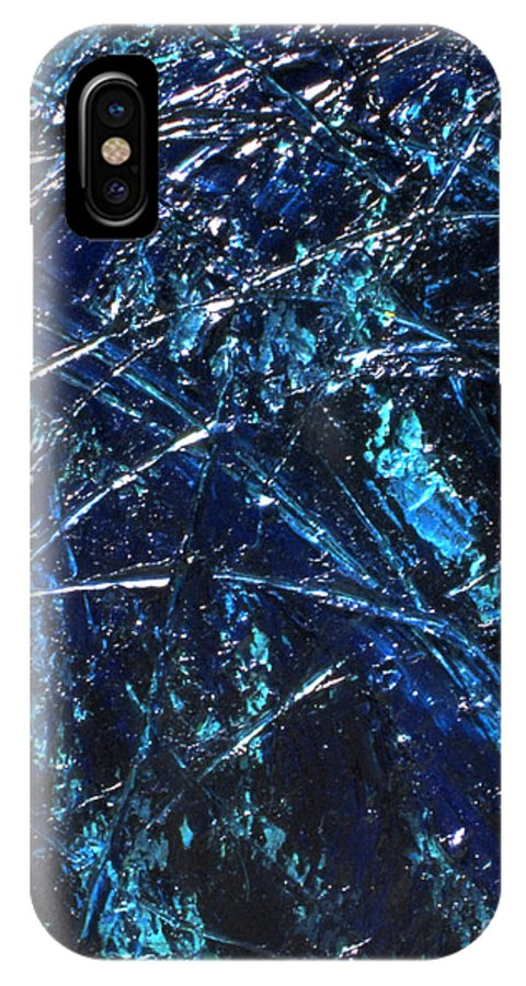 Abstract IPhone X Case featuring the painting Transitions I by Dean Triolo