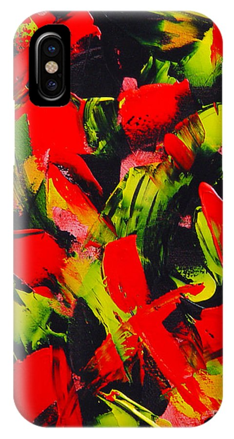 Abstract IPhone X Case featuring the painting Transitions IIi by Dean Triolo