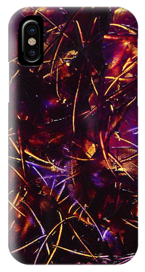 Abstract IPhone Case featuring the painting Transitions X by Dean Triolo