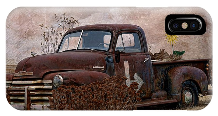 Transportation - Rusted Chevrolet 3100 Pickup IPhone X Case featuring the photograph Transportation - Rusted Chevrolet 3100 Pickup by Liane Wright