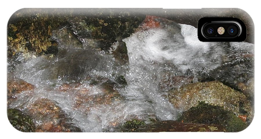Landscape IPhone X Case featuring the photograph Trapped Water by Rosanne Bartlett