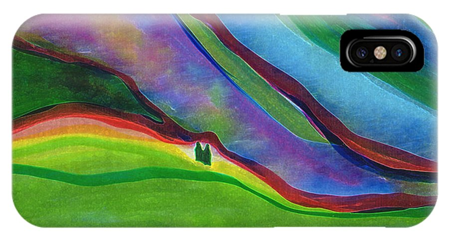 Landscape IPhone X Case featuring the digital art Travelers Foothills By Jrr by First Star Art