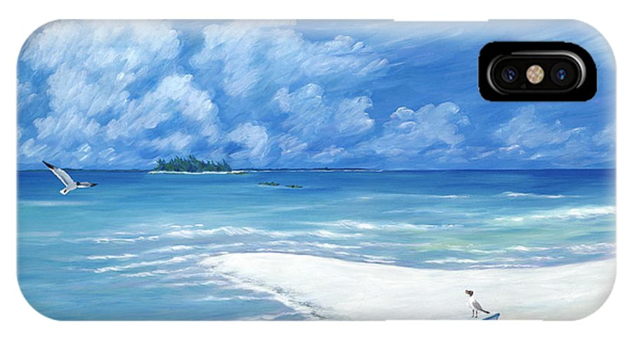 Seascape IPhone X Case featuring the painting Treasure Cay by Danielle Perry